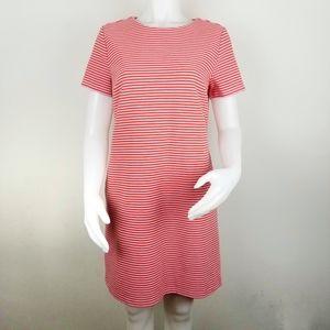 Ann Taylor Striped Knit Short Sleeve Shift Dress